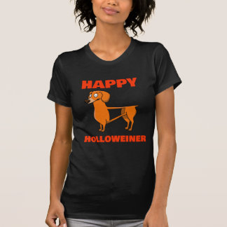 Cute Happy Hollow Weiner Dog Trick Or Treat Tee