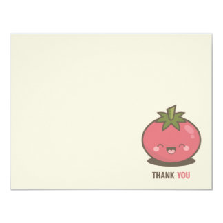 Cute Happy Kawaii Tomato Thank You Card