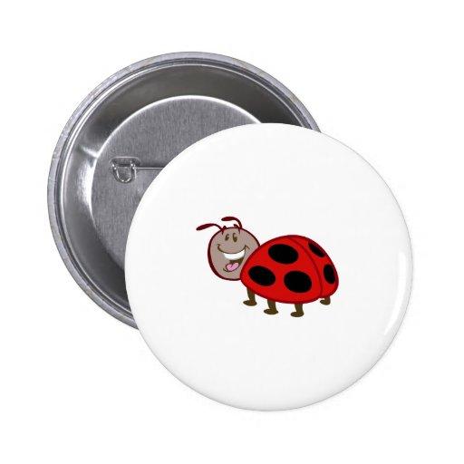 cute happy ladybug pinback button