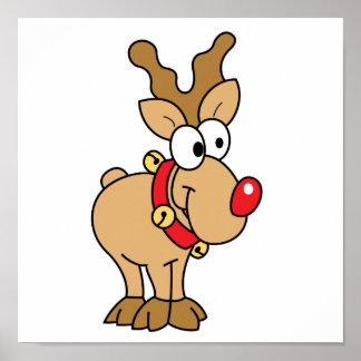 Cute Reindeer Posters   Zazzle Canada