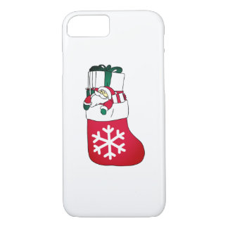 Cute Happy Little Santa Claus in the Sock iPhone 8/7 Case