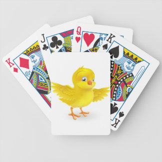Cute happy little yellow Easter chick Bicycle Playing Cards