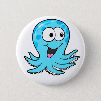 Cute Happy Octopus Button