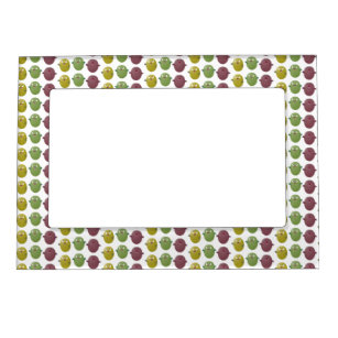 Cute happy olives singing cartoon magnetic frame
