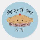 Cute Happy Pi Day! Classic Round Sticker