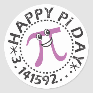 Cute Happy Pi Day © Stickers - Funny Pi Day Gifts