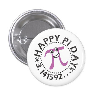 Cute Happy Pi Day © - Wearable Pi Day Gift 1 Inch Round Button