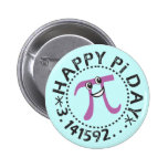 Cute Happy Pi Day - Wearable Pi Day Gift Buttons