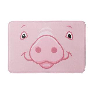 Cute Happy Pink Pig Face Bath Mat