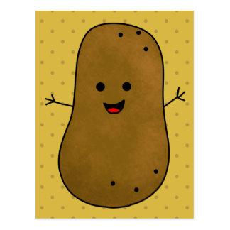 Cute Happy Potato Postcard