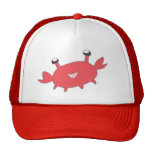 Cute Happy Red Crab Hats