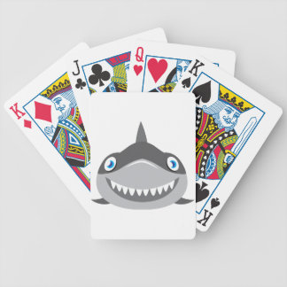 cute happy shark face bicycle playing cards