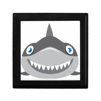 cute happy shark face gift box