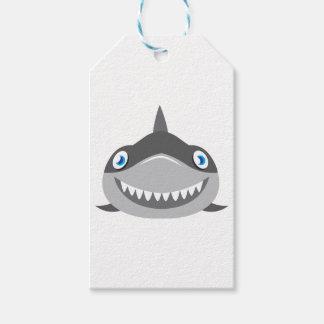 cute happy shark face gift tags