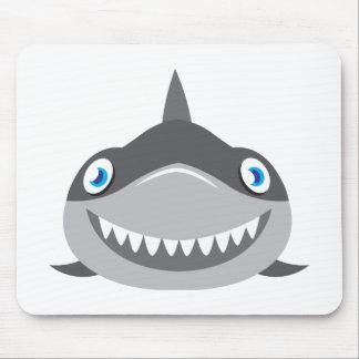 cute happy shark face mouse pad