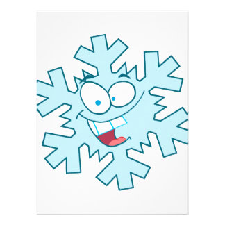cute happy silly cartoon snowflake character personalized invitations