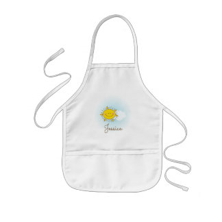 Cute Happy Smiley Sunshine Custom Add Your Name Kids Apron