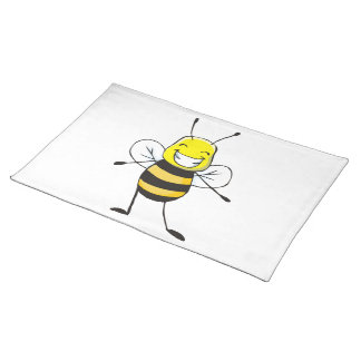 Cute Happy Smiling Bee Custom Placemats
