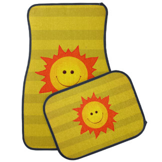 Cute Happy Smiling Sun Car Mat