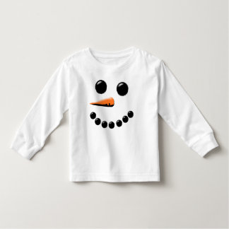 Cute Happy Snowman Face Festive Holiday Xmas Toddler T-shirt