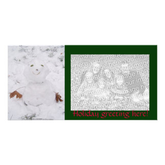 cute happy snowman picture card