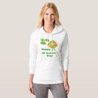 Cute Happy St Patrick's Day Girl Hoodie