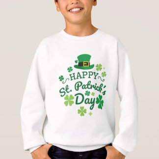 Cute Happy St. Patrick's Day Lucky Celebrate Print Sweatshirt