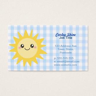 Cute Happy Sun Business Card