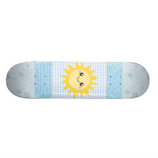 Cute Happy Sun Skate Board