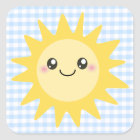 Cute Happy Sun Square Sticker