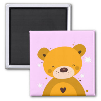 Cute Happy Teddy Magnet
