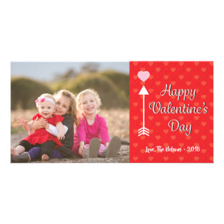 Cute Happy Valentine's Day Photo Card