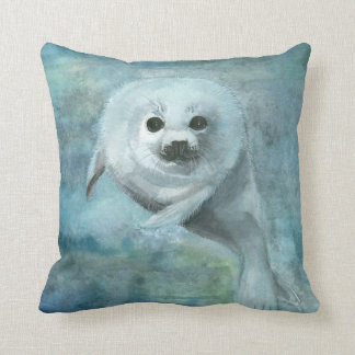 Cute Harp Seal Pillow