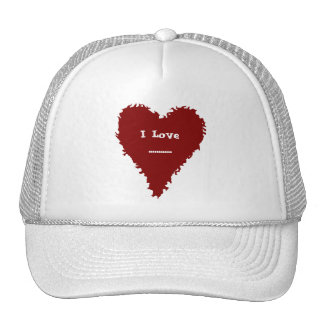Cute hat with a red heart on it for your text
