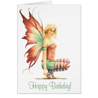 """Cute """"Hawthorn Fairy"""" Birthday Card"""