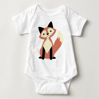 Cute Head-tilt Fox Baby Bodysuit