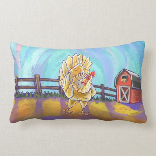 Cute Heads and Tails Chicken Lumbar Pillow