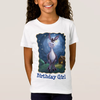 Cute Heads and Tails Donkey Birthday Girl Tee