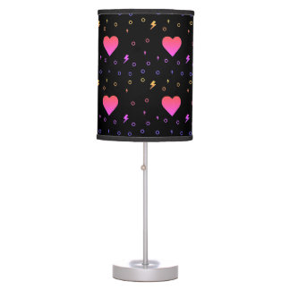 Cute Heart and Lightening Pattern Lamp
