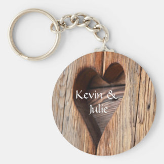 Cute heart cut out keychain