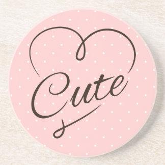 Cute Heart Doodle Coaster