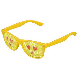 Cute Heart Eyes Love Emoji Yellow Kids Sunglasses