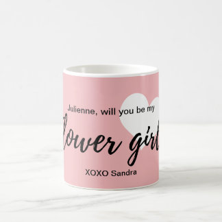 "Cute Heart ""Flower Girl"" Proposal Coffee Mug"
