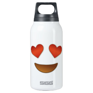 Cute Heart for Eyes emoji Insulated Water Bottle