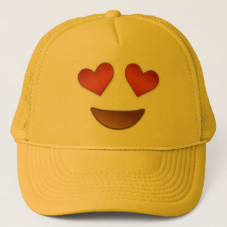 Cute Heart for Eyes emoji Trucker Hat