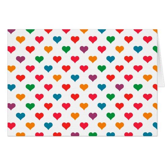 Cute Heart Love Pattern Card