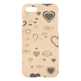 Cute Heart Modern Dark Gray iPhone 8/7 Case