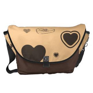 Cute Heart Modern Dark Gray Pattern Commuter Bag