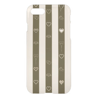 Cute Heart Modern Donkey Brown Stripe iPhone 8/7 Case