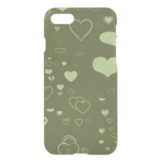 Cute Heart Modern Moss Green iPhone 8/7 Case